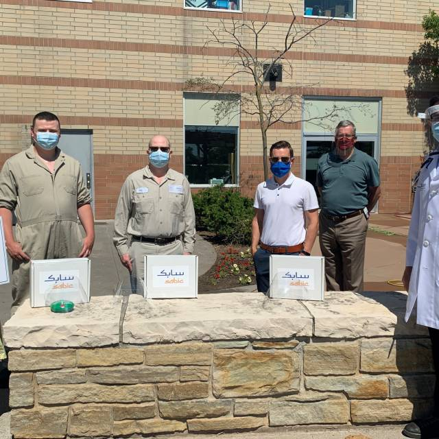 SABIC Donates Face Shields to Northumberland Hills Hospital